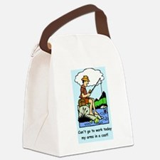 Funny arms in a cast Canvas Lunch Bag