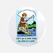 """Funny arms in a cast 3.5"""" Button (100 pack)"""