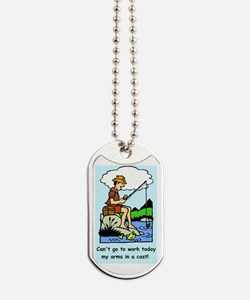 Funny arms in a cast Dog Tags