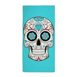 Sugar skull Beach Towels