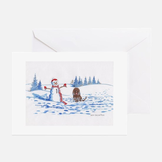 Iws And Snowman #10 Greeting Cards