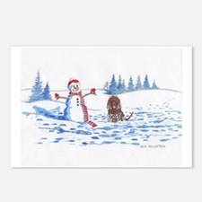 Iws And Snowman # 10 Postcards (package Of 8)