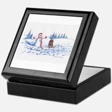 Iws And Snowman #10 Keepsake Box