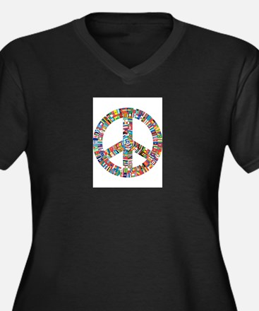 Peace to All Nations Plus Size T-Shirt