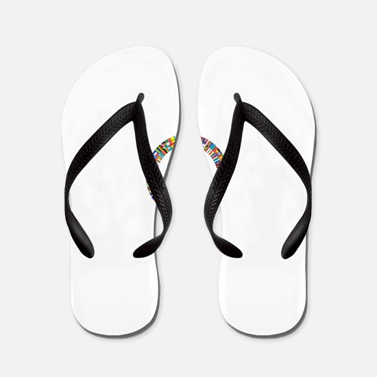 Peace to All Nations Flip Flops