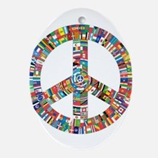 Peace to All Nations Oval Ornament