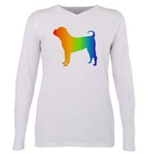 Cute I love my chinese shar pei Plus Size Long Sleeve Tee