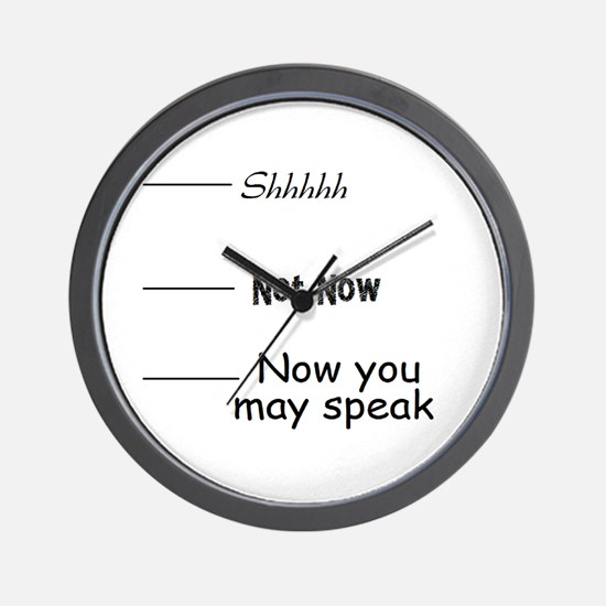 funny, not now Wall Clock