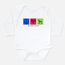 Cool Peace love pets Long Sleeve Infant Bodysuit