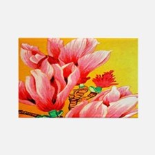 Cactus Flower Floral Rectangle Magnet
