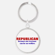 Cute Welfare Round Keychain