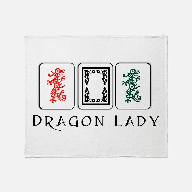 Mahjong Dragons Throw Blanket