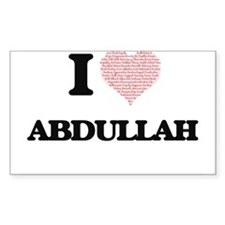 I Love Abdullah (Heart Made from Love wor Decal
