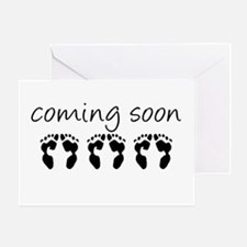 Triplets Coming Soon Greeting Card
