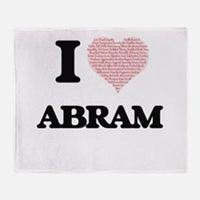 I Love Abram (Heart Made from Love w Throw Blanket