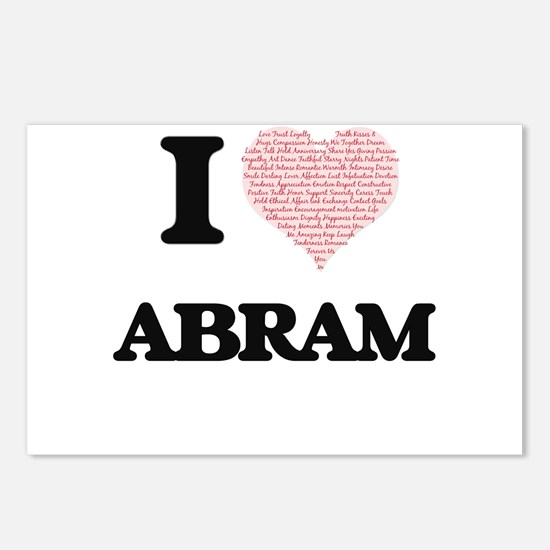 I Love Abram (Heart Made Postcards (Package of 8)