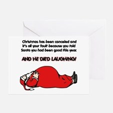 Christmas Is Cancelled Joke Greeting Card