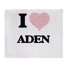 I Love Aden (Heart Made from Love wo Throw Blanket
