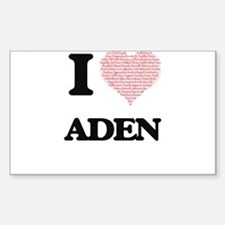 I Love Aden (Heart Made from Love words) Decal