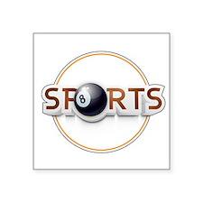 Circular SPORTS Logo with EIGHT BALL Sticker