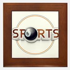 Circular SPORTS Logo with EIGHT BALL Framed Tile