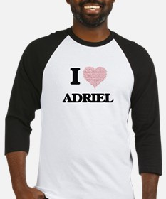 I Love Adriel (Heart Made from Lov Baseball Jersey