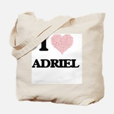 I Love Adriel (Heart Made from Love words Tote Bag