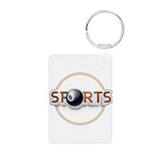 Circular SPORTS Logo with EIGHT BALL Keychains