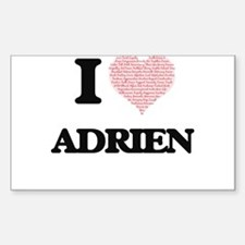 I Love Adrien (Heart Made from Love words) Decal