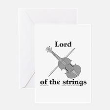 Lord/Violin. Greeting Card