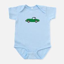 Green Spitfire Cartoon Infant Bodysuit