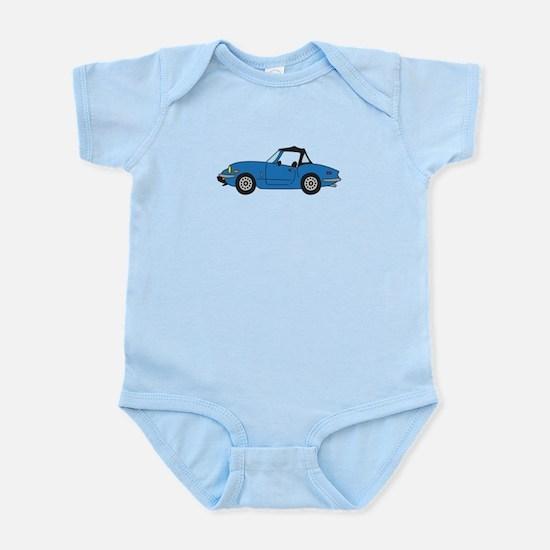 Blue Spitfire Cartoon Infant Bodysuit