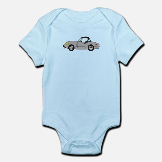 Silver Gray Spitfire Cartoon Infant Bodysuit