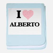 I Love Alberto (Heart Made from Love baby blanket