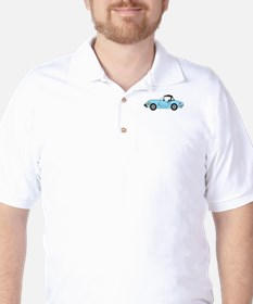 Light Blue Spitfire Cartoon Golf Shirt