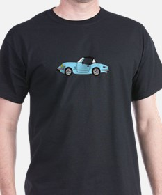 Light Blue Spitfire Cartoon T-Shirt