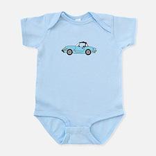 Light Blue Spitfire Cartoon Infant Bodysuit