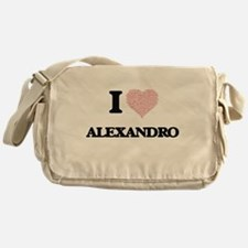 I Love Alexandro (Heart Made from Lo Messenger Bag
