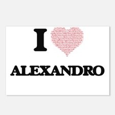 I Love Alexandro (Heart M Postcards (Package of 8)