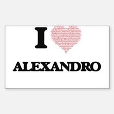 I Love Alexandro (Heart Made from Love wor Decal