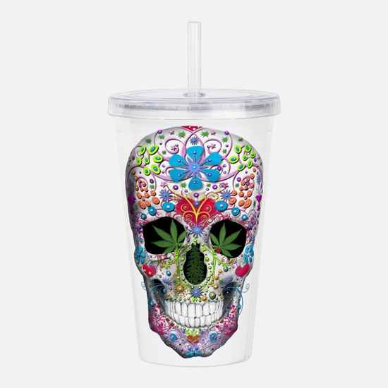 Decorated Skull Acrylic Double-wall Tumbler