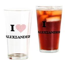 I Love Alexzander (Heart Made from Drinking Glass