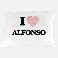 I Love Alfonso (Heart Made from Love w Pillow Case