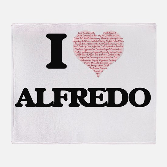 I Love Alfredo (Heart Made from Love Throw Blanket