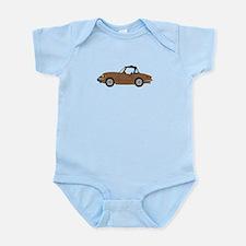 Brown Spitfire Cartoon Infant Bodysuit