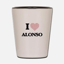 I Love Alonso (Heart Made from Love wor Shot Glass
