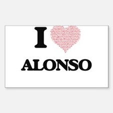 I Love Alonso (Heart Made from Love words) Decal