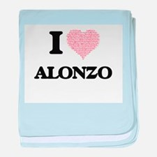 I Love Alonzo (Heart Made from Love w baby blanket