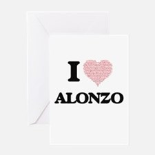I Love Alonzo (Heart Made from Love Greeting Cards