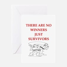 martial arts Greeting Cards